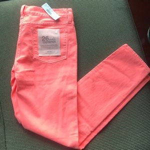 NWT J Crew toothpick ankle jeans size 26